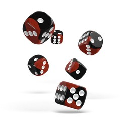 Oakie Doakie Dice - D6 Glow in the Lava 16mm Set of 12 (ODD410045)