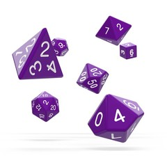 Oakie Doakie Dice - RPG-Set Solid Purple