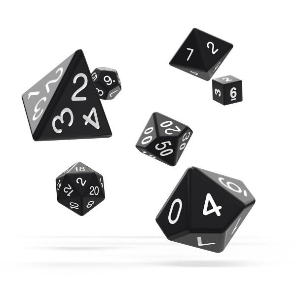 Oakie Doakie Dice - RPG-Set Solid Black