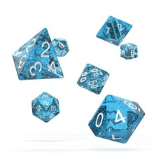 Oakie Doakie Dice - RPG-Set Speckled Light Blue