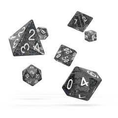 Oakie Doakie Dice - RPG-Set Speckled Black