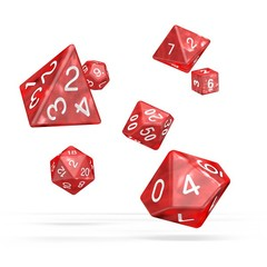 Oakie Doakie Dice - RPG-Set Marble Red
