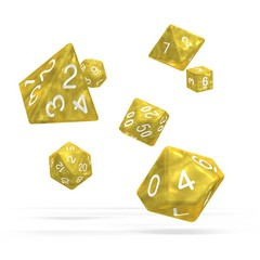 Oakie Doakie Dice - RPG-Set Marble Yellow