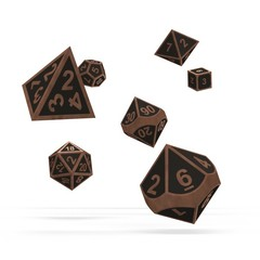 Oakie Doakie Dice - RPG-Set Metal Steampunk