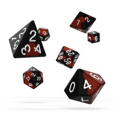 Oakie Doakie Dice - RPG-Set Glow in the Dark Lava