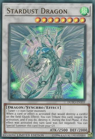 Stardust Dragon - DUPO-EN103 - Ultra Rare - Limited Edition