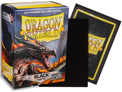 Dragon Shield Non-Glare Sleeves - Matte Black (Box of 100)