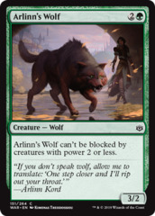 Arlinn's Wolf - Foil on Channel Fireball