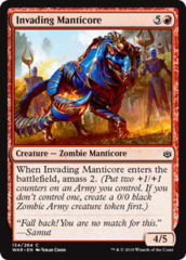 Invading Manticore - Foil