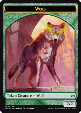 8 Wolf Token Shadowmoor