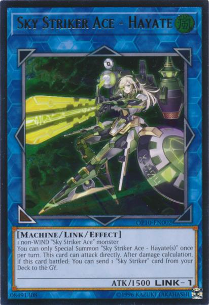 Sky Striker Ace - Hayate - OP10-EN002 - Ultimate Rare - Unlimited Edition