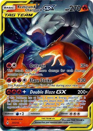 Reshiram & Charizard Tag Team GX - 20/214 - Ultra Rare