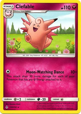 Clefable - 133/214 - Rare