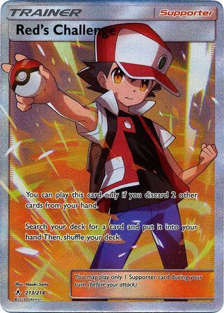 Red's Challenge - 213/214 - Full Art Ultra Rare - Pokemon
