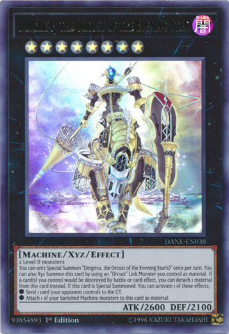 Dingirsu, the Orcust of the Evening Star - DANE-EN038 - Ultra Rare - 1st Edition