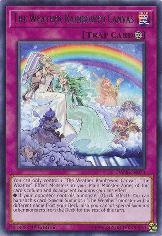 The Weather Rainbowed Canvas - DANE-EN073 - Rare - 1st Edition