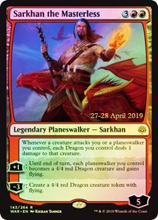 Sarkhan the Masterless (WAR Prerelease Foil)