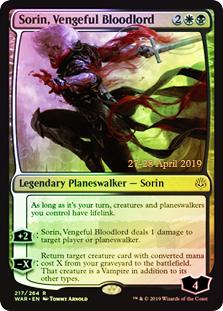 Sorin, Vengeful Bloodlord - Foil - Prerelease Promo
