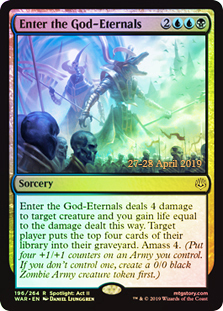 Enter the God-Eternals - Foil - Prerelease Promo