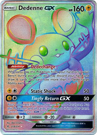 Dedenne GX - 219/214 - Secret Rare