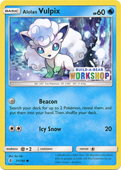 Alolan Vulpix - 21/145 - Build-a-Bear Promo