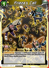 Frieza's Call (Event Pack 03 -  Origins Exclusive Gold Stamped) - BT1-109 - PR