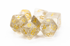 Old School RPG Dice Set: Sparkle - Translucent Clear