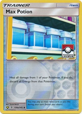 Max Potion - 128a/145 - Reverse Holo - League Promo