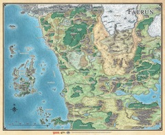 D&D Sword Coast Adventure's Guide Faerûn Map
