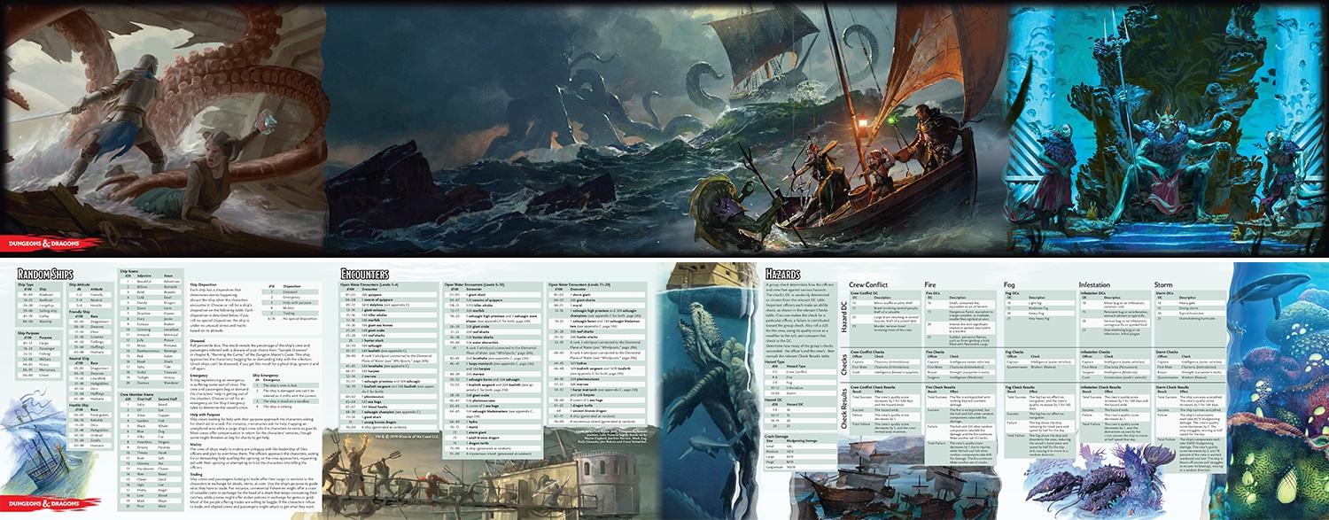 D&D Of Ships & The Sea - DM Screen