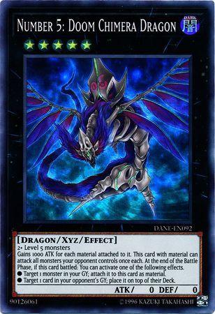 Number 5: Doom Chimera Dragon - DANE-EN092 - Super Rare - Unlimited Edition