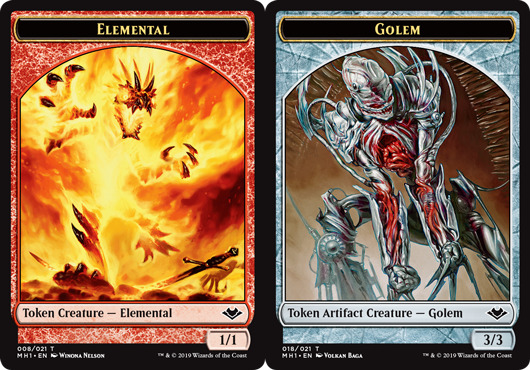 Elemental Token (008) // Golem Token