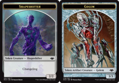 Shapeshifter Token // Golem Token