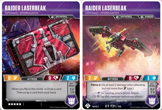 Raider Laserbeak // Espionage Interrogation
