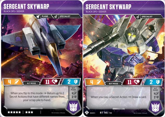 Sergeant Skywarp // Black Ops Seeker