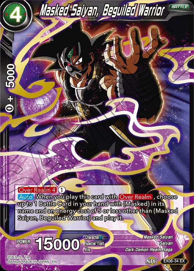 Masked Saiyan, Beguiled Warrior - EX06-34 - EX - Foil