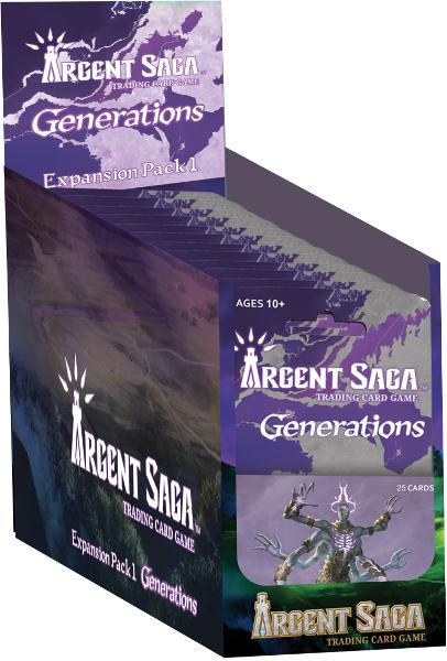 Argent Saga TCG: Generations Expansion Pack 1 - Display Box