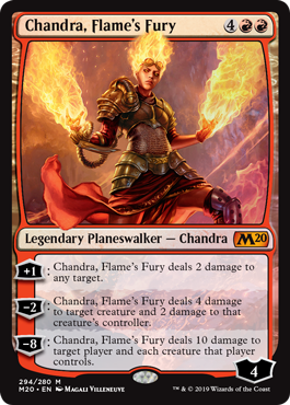 Chandra, Flames Fury - Foil Planeswalker Deck Exclusive