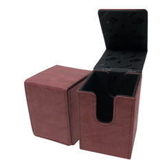 Ultra Pro - Alcove Flip Box - Suede Collection: Ruby