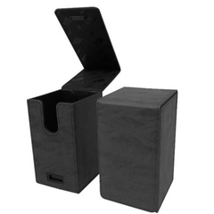 Ultra Pro Alcove Tower Flip Deck Box (Holds 100) - Suede Jet Black