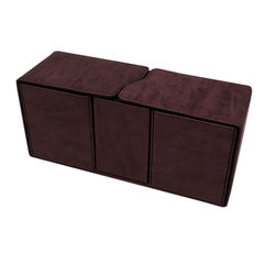 Ultra Pro - Alcove Vault Flip Box - Suede Collection: Ruby