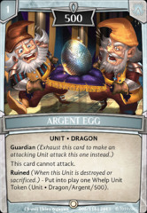 Argent Egg on Channel Fireball