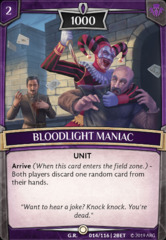 Bloodlight Maniac - Foil on Channel Fireball