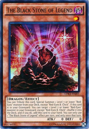 The Black Stone of Legend - LDK2-ENJ05 - Ultra Rare - Unlimited Edition