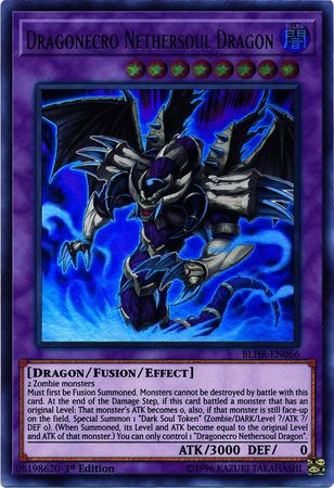 Dragonecro Nethersoul Dragon - BLHR-EN066 - Ultra Rare - 1st Edition