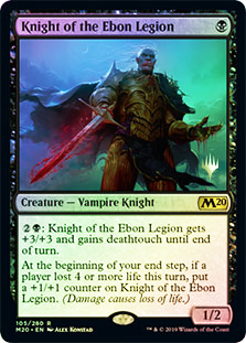 Knight of the Ebon Legion - Foil - Promo Pack