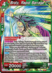 Broly, Rapid Barrage - BT7-116 - UC - Foil on Channel Fireball