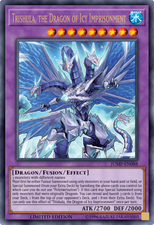 Trishula, the Dragon of Icy Imprisonment - JUMP-EN088 - Ultra Rare - Limited Edition