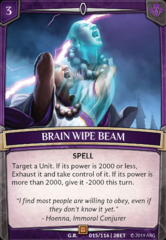 Brain Wipe Beam on Channel Fireball