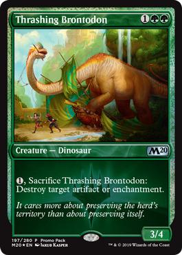 Thrashing Brontodon - Dark Frame Promo